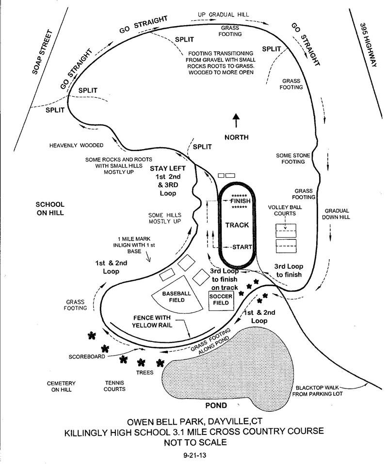 Sandy Hook Hi 5K course map